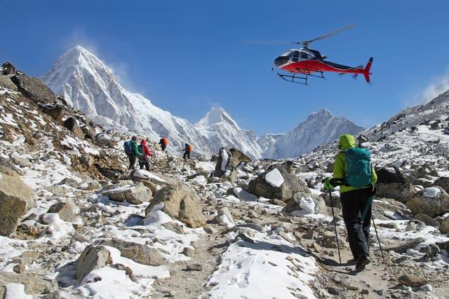 Peak time: bagging an April flight to Kathmandu will cost you