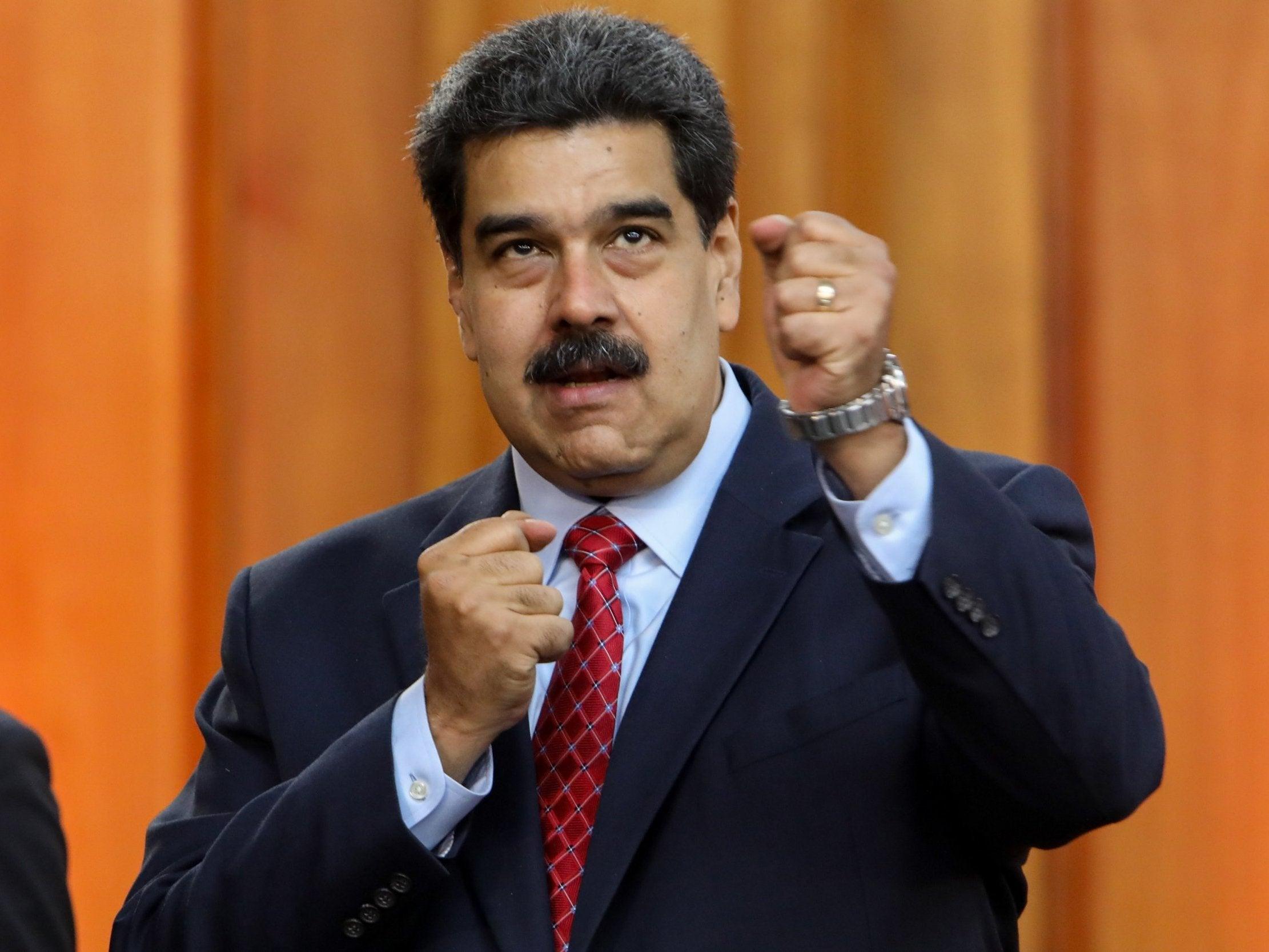 ef6b6ec62 Venezuela crisis: Maduro accuses Trump of hiring Colombian mafia to  assassinate him   The Independent