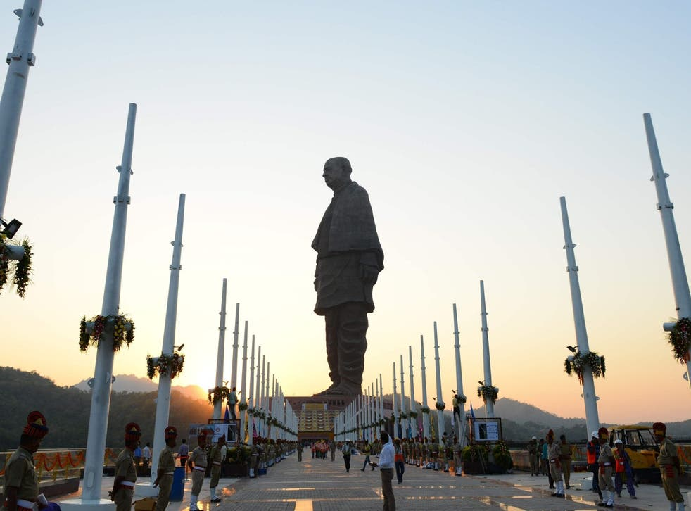 """The """"Statue Of Unity"""", the world's tallest statue dedicated to Indian independence leader Sardar Vallabhbhai Patel"""
