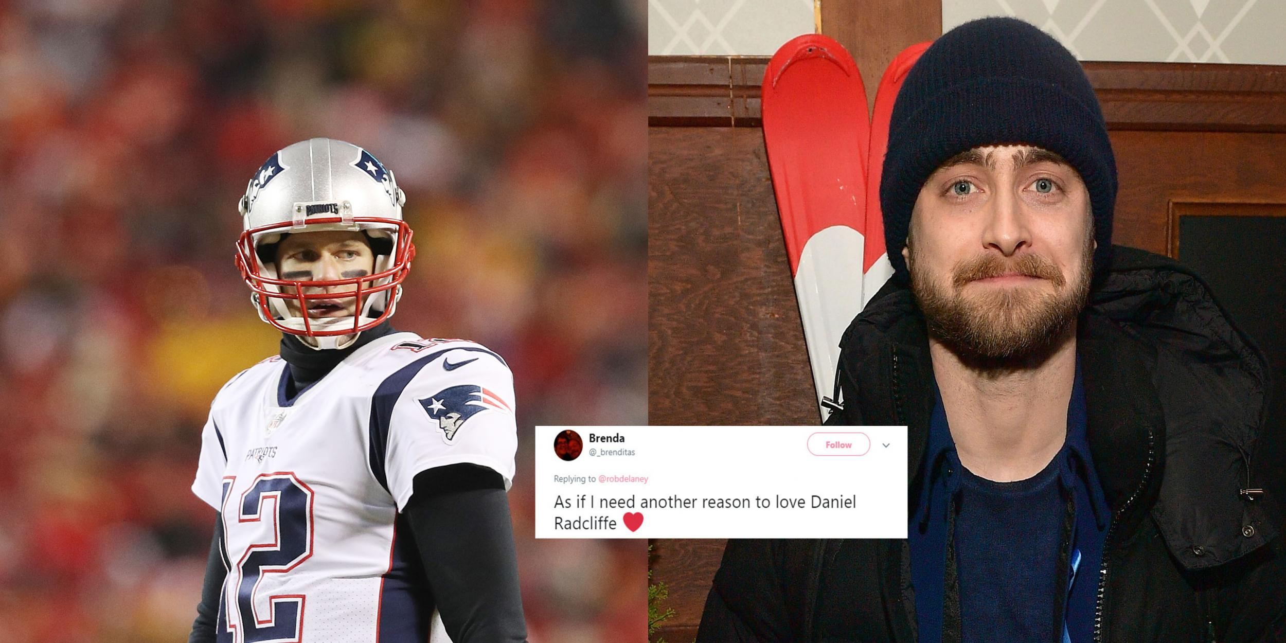 1ae77d97c1989 Tom Brady owned a MAGA hat - and Daniel Radcliffe told him how he feels  about it