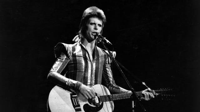 """The long gone Rainbow in London's Finsbury Park was one of the great rock venues, and though I was young at the time it would be impossible to forget the impact of Bowie in one of his first outings as Ziggy Stardust. """"They haven't even finished building the stage,"""" I said with breathtaking naievety to the person next to me, on observing the scaffolding and ladder. Of course, it was all part of the Ziggy theatrics, a show that began with David/Ziggy walking out to the drums of """"Five Years"""" and continued with mime, flamboyance and songs that have all become classics. I remember his appearance being heralded by music from Beethoven's Ninth (also used in A Clockwork Orange, the film being current at the time). In those years Bowie always used it as his theme music. I also remember being blown away by the support act – a fresh, imaginative outfit called Roxy Music. (David Lister)"""