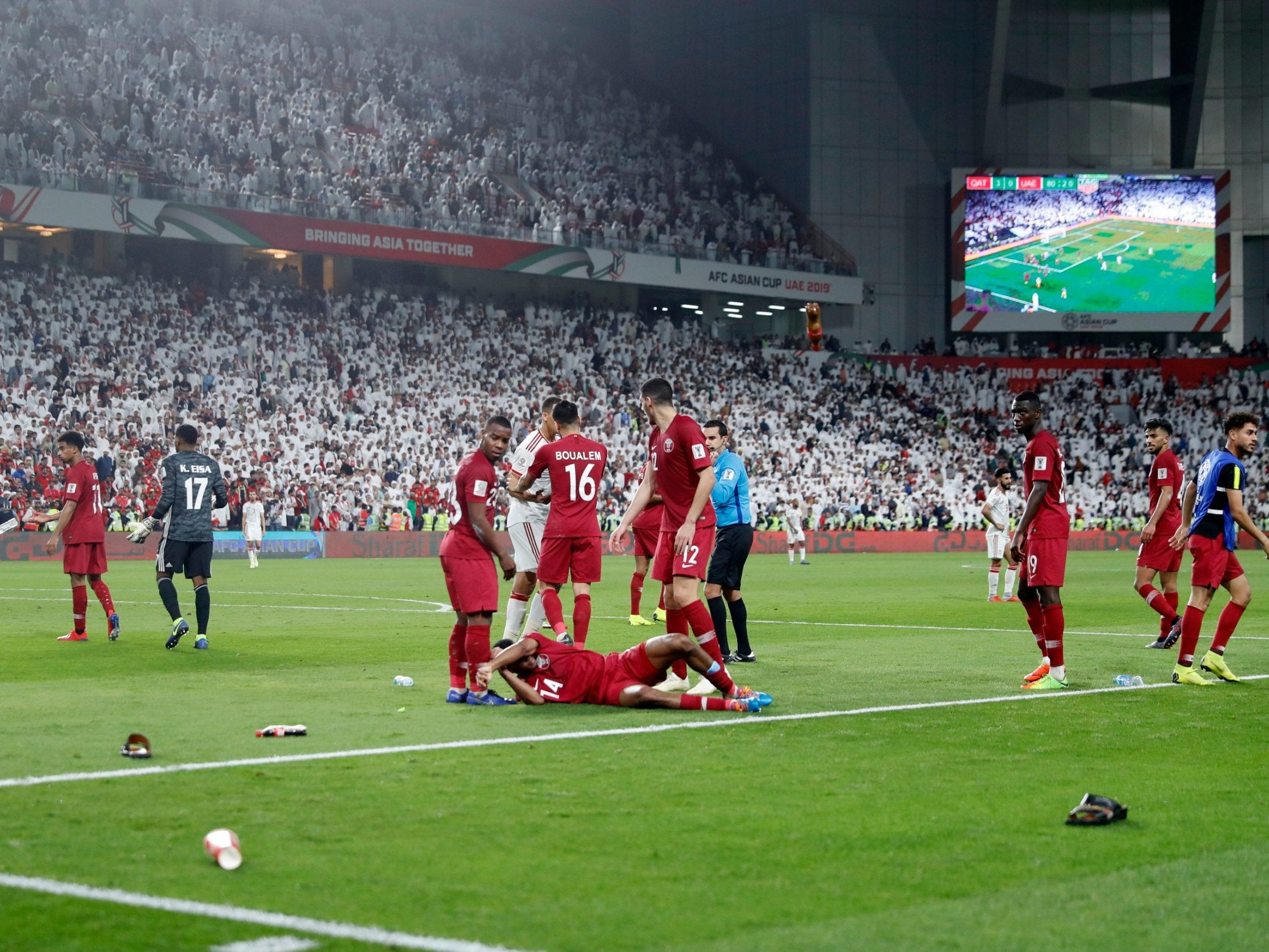 f093b60a8a5d Asian Cup 2019  UAE fans throw shoes at Qatar players in humbling semi-final
