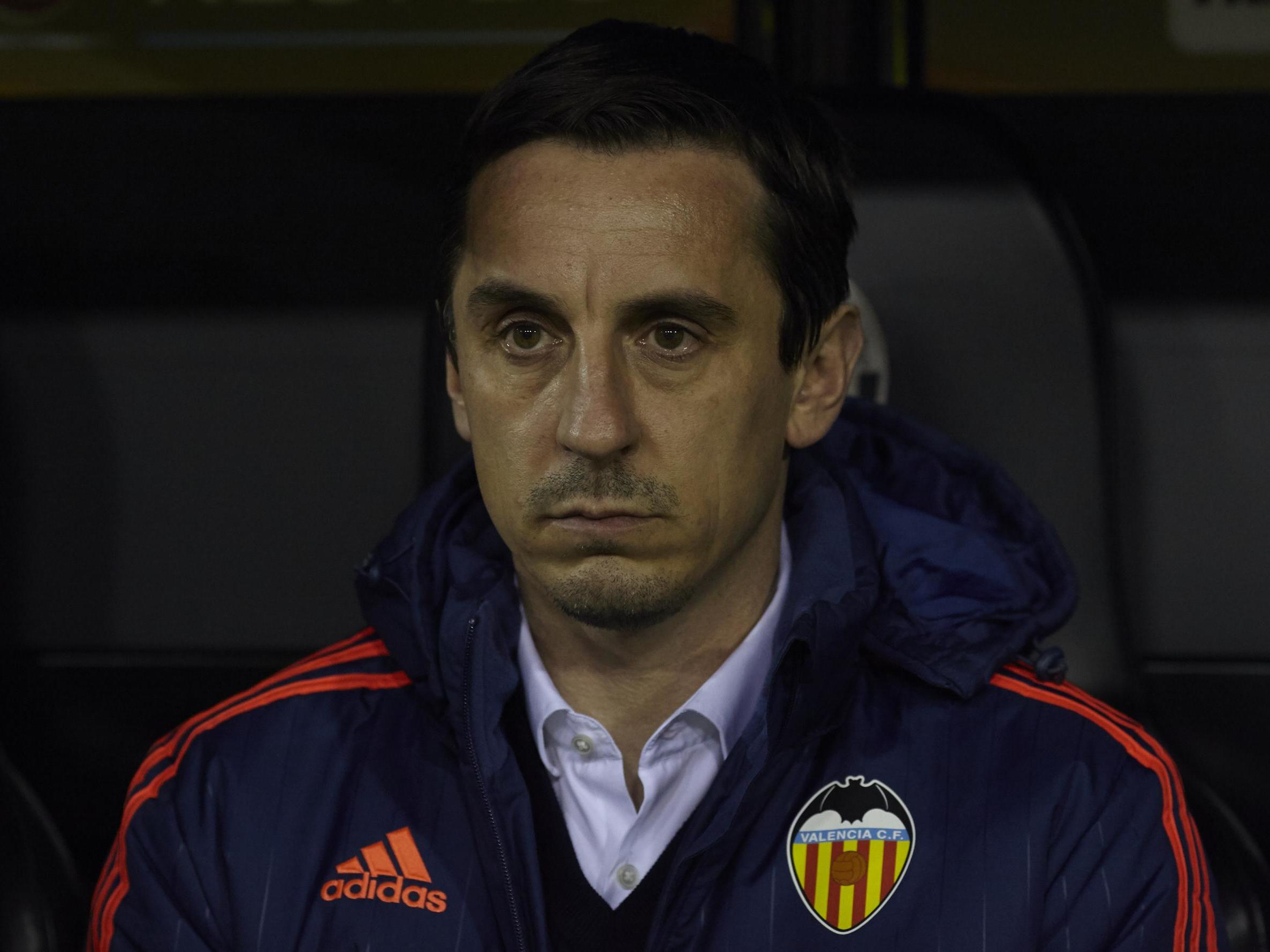 Gary Neville reveals 'stupid mistakes' he made at Valencia during nightmare  spell as manager in La Liga | The Independent | Independent