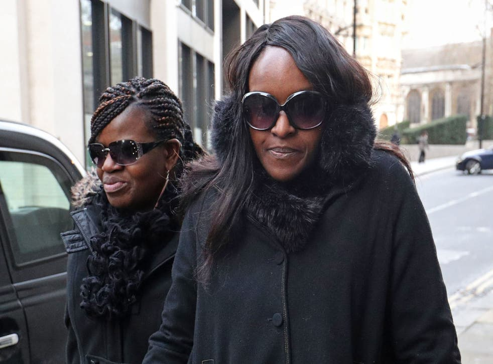 Fiona Onasanya (right) arrives at the Old Bailey, London for sentencing