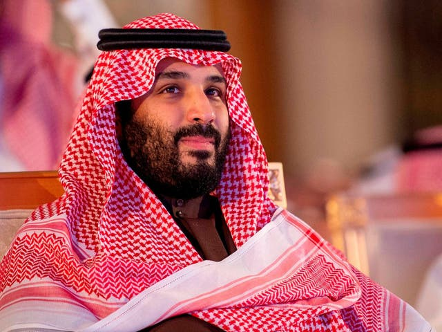 A handout picture provided by the Saudi Press Agency (SPA) on January 28, 2019 shows Crown Prince Mohammed bin Salman attending a ceremony at a hotel in Riyadh.