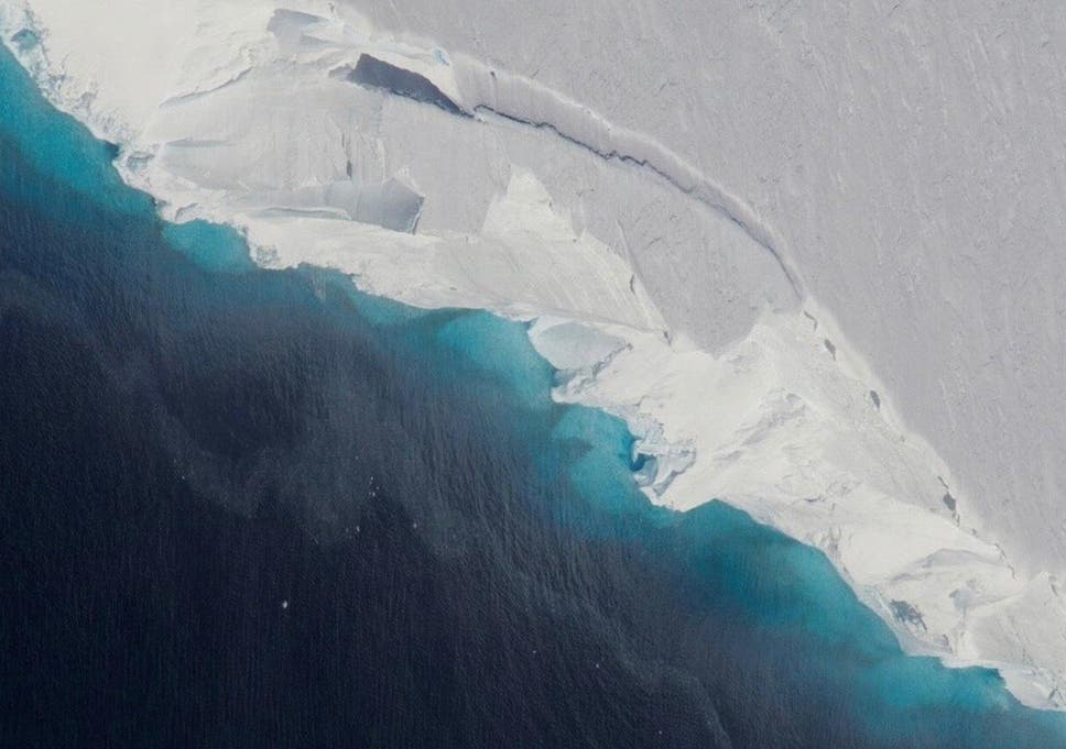Melting ice from Thwaites glacier is thought to be responsible for around 4 per cent of sea level rise