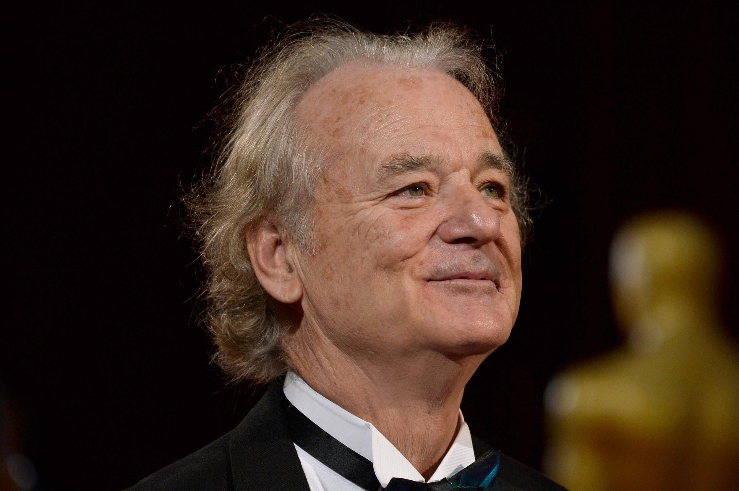 Bill Murray slept through a press conference celebrating his lifetime achievement award at Rome Film Fest