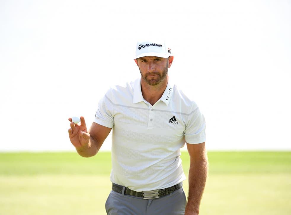 Dustin Johnson is the leading the field at the £2.6million event