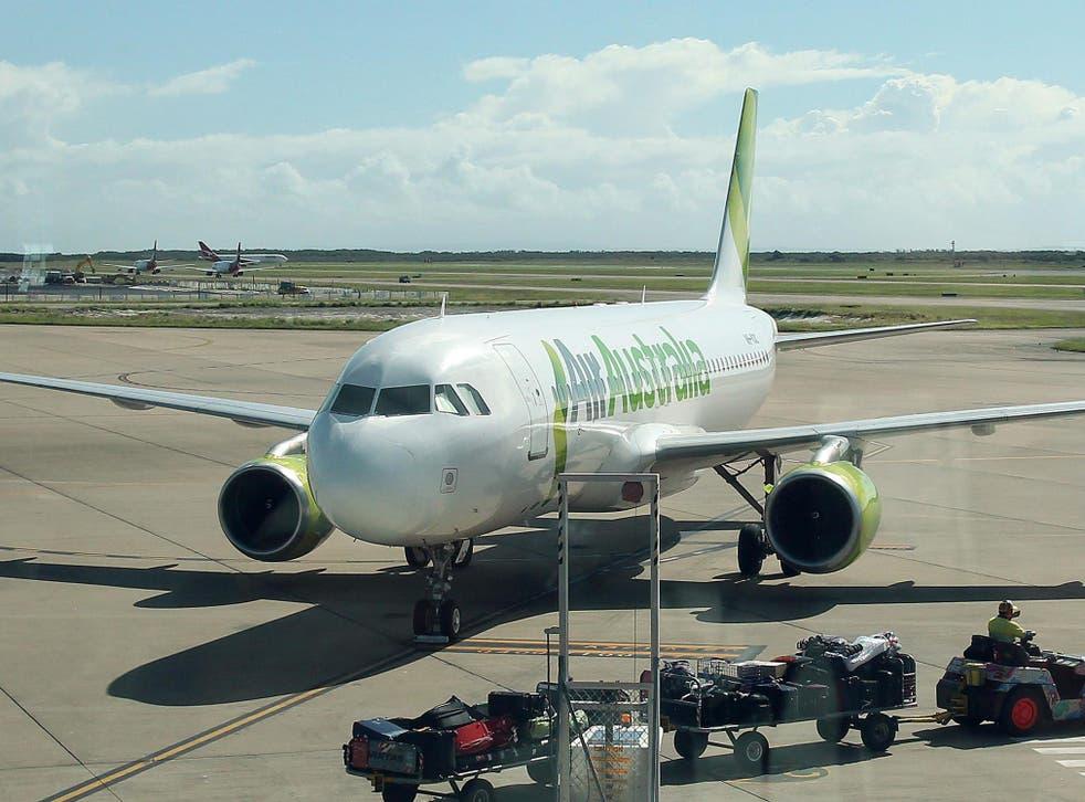 An Air Australia plane at Brisbane International Airport