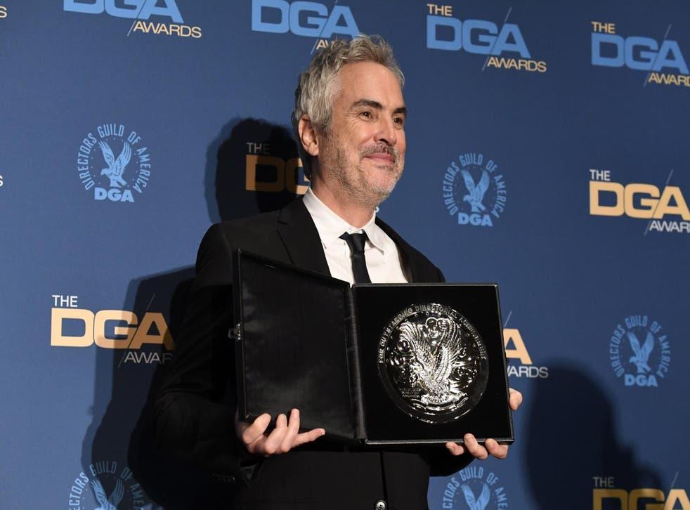 Alfonso Cuaron with his 2019 DGA award