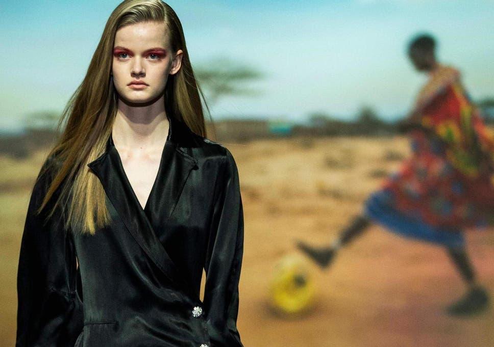fda83325191 Fashion brand Ganni criticised for  tone deaf  Copenhagen Fashion Week Show