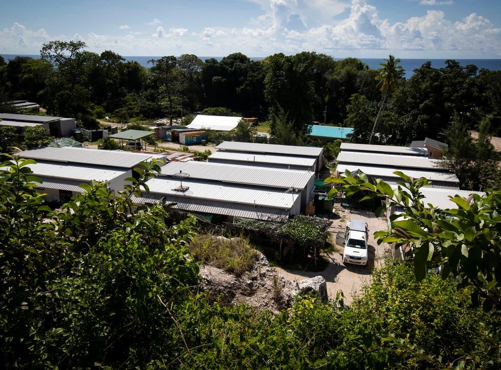 Settlements for asylum seekers on the island of Nauru