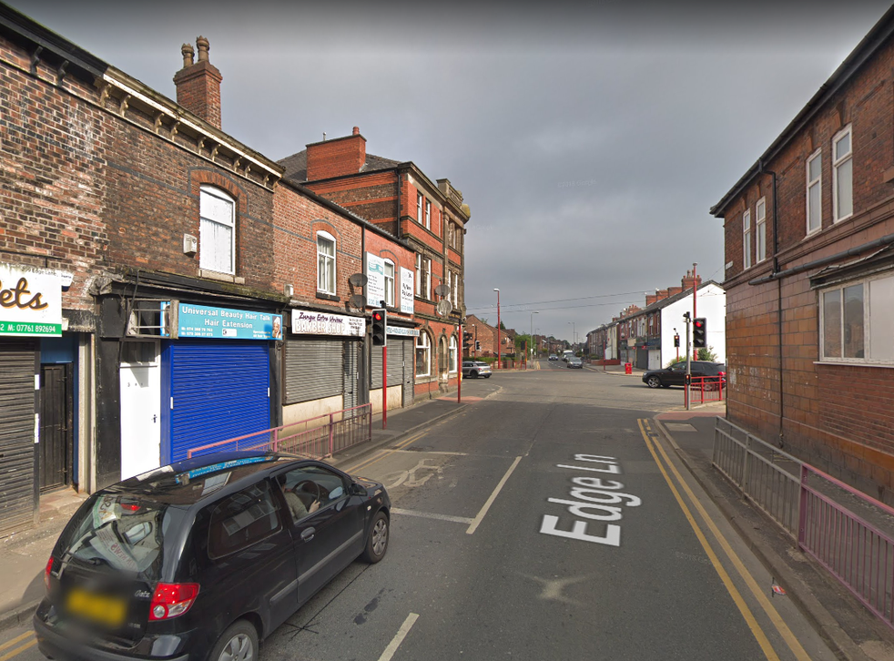 The street in Greater Manchester where the girl was targeted