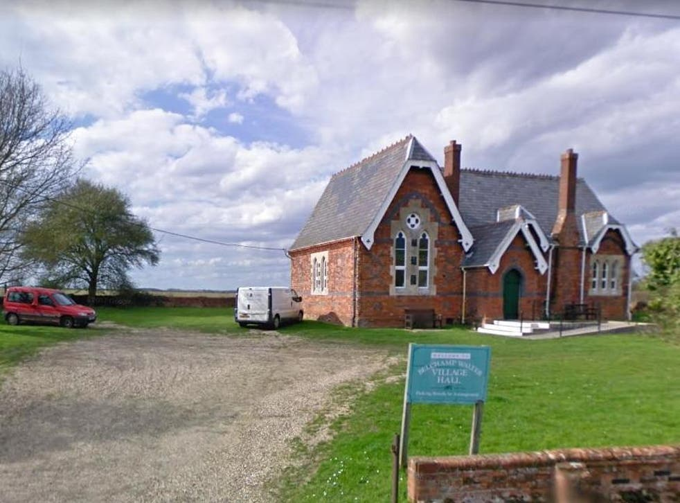 Local media are reporting police have set up a cordon at Belchamp Walter village hall while attending the 'crash' which is believed to be in a field to the rear