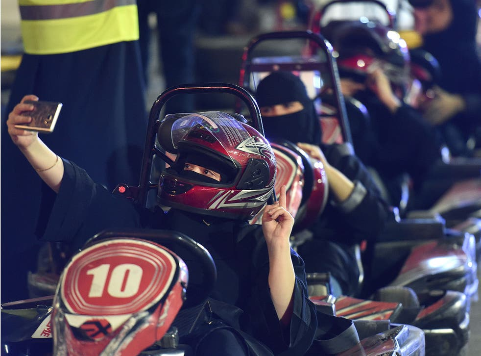 A driving workshop for women in the Saudi capital Riyadh, shortly before the world's only ban on female motorists was ended in June last year. The historic reform was marred by an expanding crackdown on activists who had called for it
