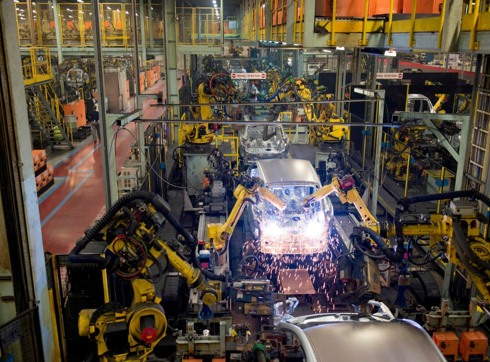 Robots at a Nissan plant... they are set to push far beyond manufacturing
