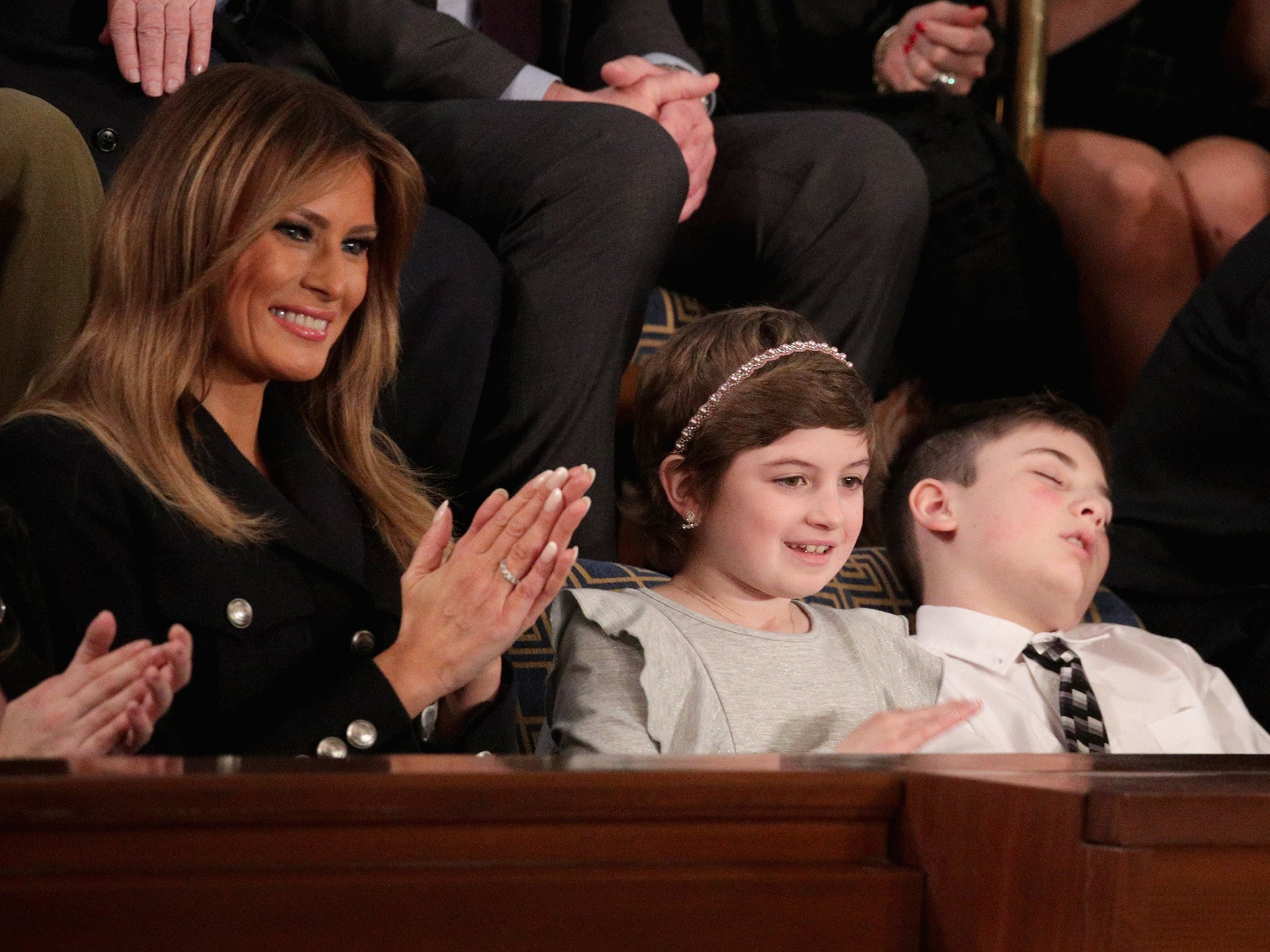 Joshua Trump: Schoolboy bullied over surname wins acclaim after falling asleep at State of the Union