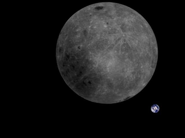 Chinese satellite takes stunning photo of the Moon and the Earth together