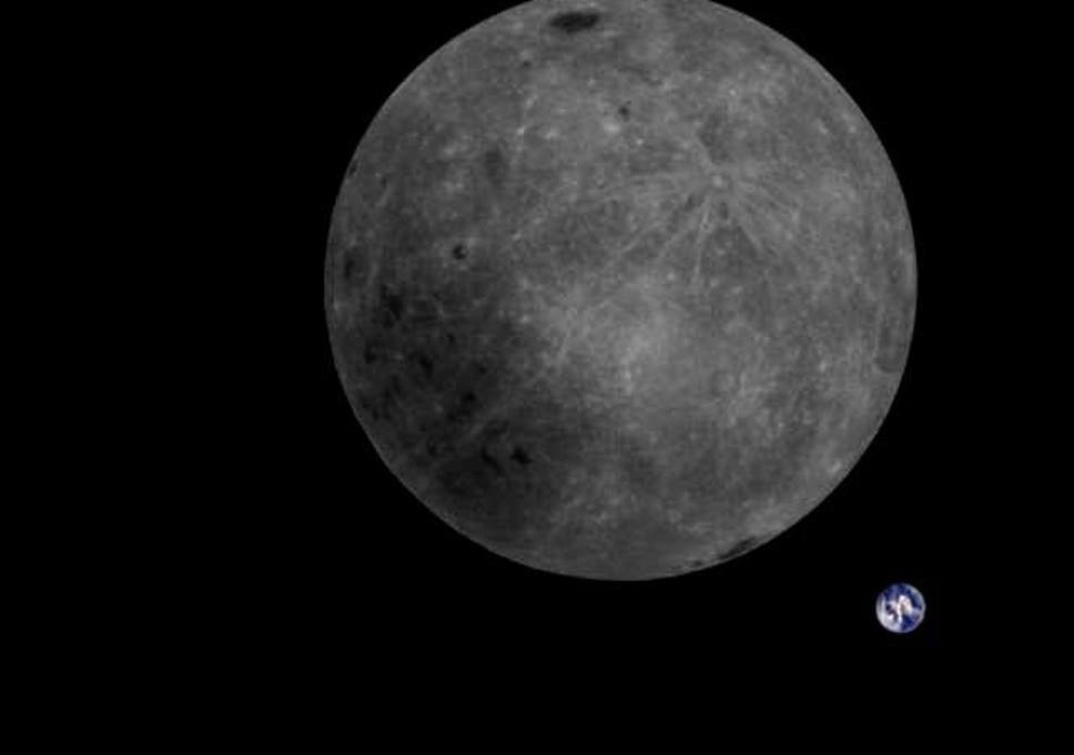 Old Moon In New Moons Arms >> Chinese Satellite Takes Stunning Photo Of The Moon And The Earth