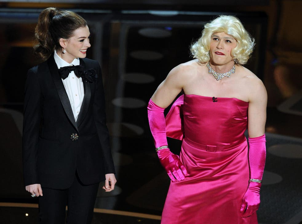 Frocky horror: 'All the reasons why I turned it down came true,' said Anne Hathaway of hosting the 2011 Oscars with James Franco