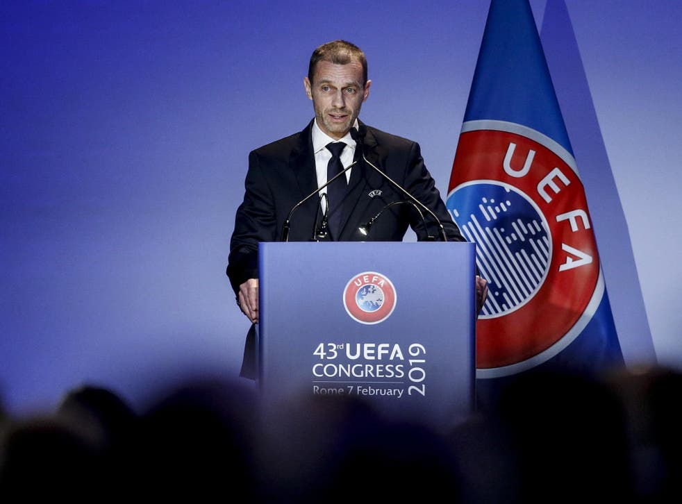 Uefa made the announcement on Thursday