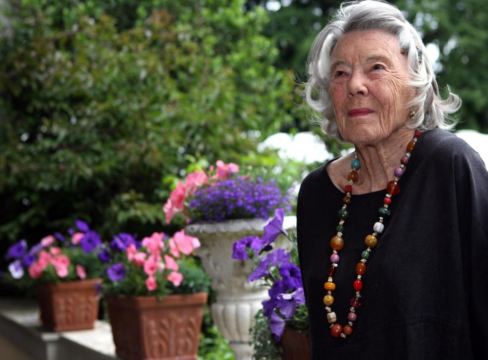 British author Rosamunde Pilcher attends a garden party at the official residence of the British ambassador to Germany on 7 June, 2012 in Berlin, Germany.