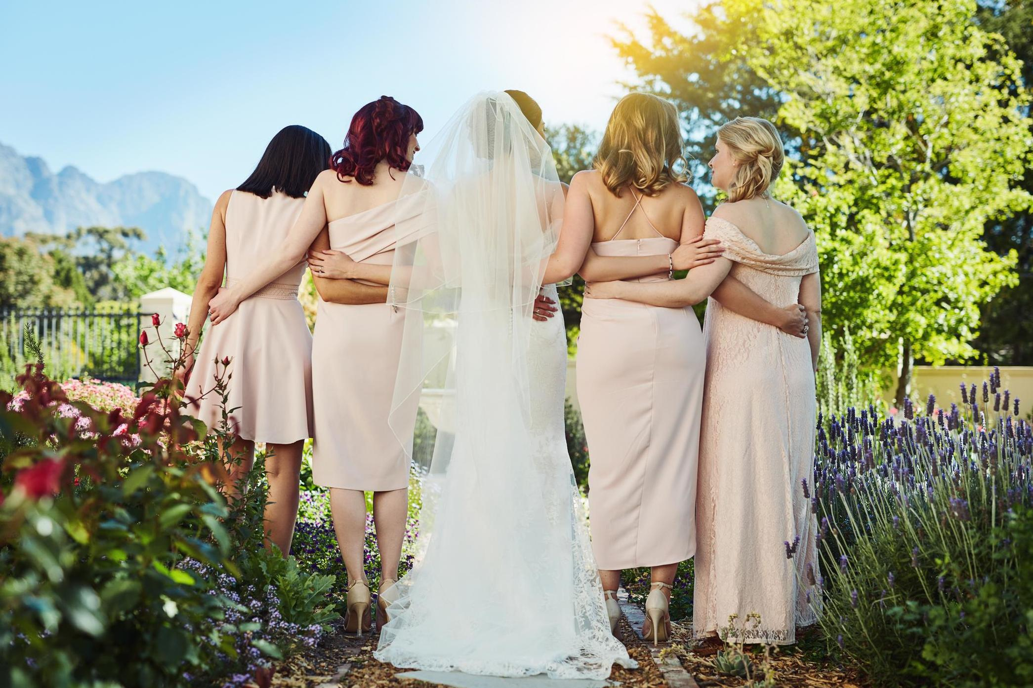 ede09e921c Love   Sex · Bride tells guests to wear their old wedding dresses · Fashion  · Bride and bridesmaids praised for  magnificent  dresses with pockets