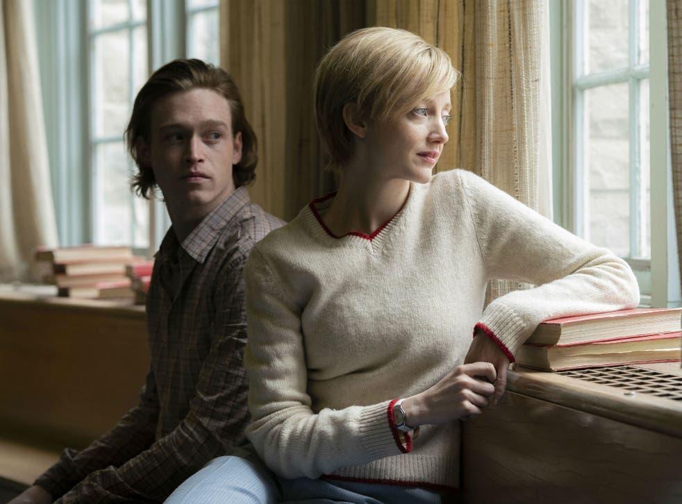 Caleb Landry Jones and Andrea Riseborough in 'The Kindness of Strangers'