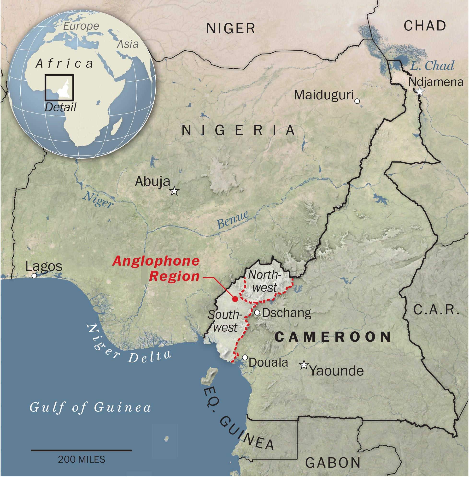 War of words: Cameroon being torn apart by deadly language ...