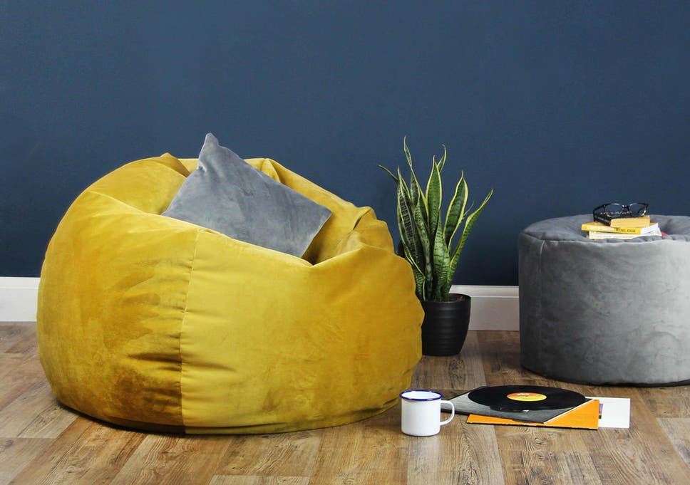 Soft touch  A brightly coloured velvet beanbag is an easy way to add texture  and 8c887b89a0791
