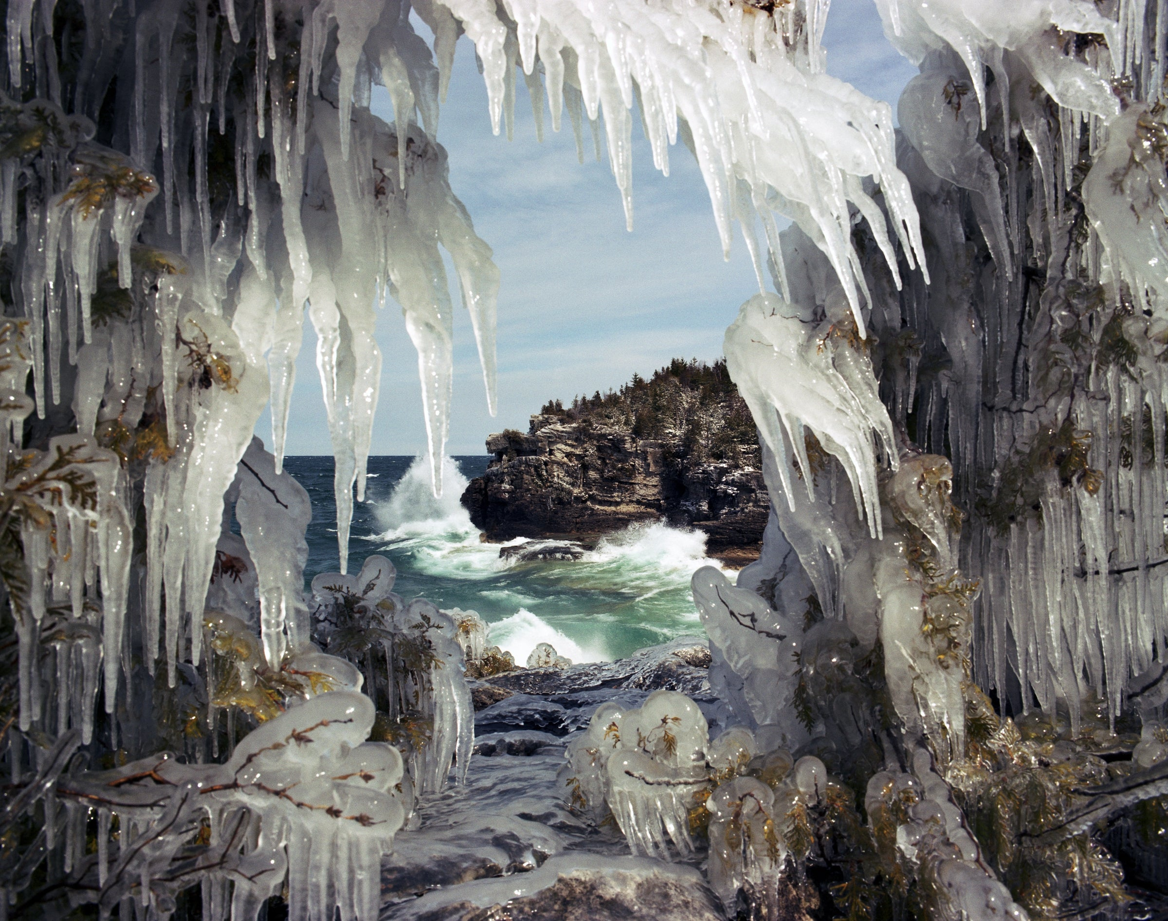 Ontario Ice Caves, Canada: See them now, as climate change may pose a threat
