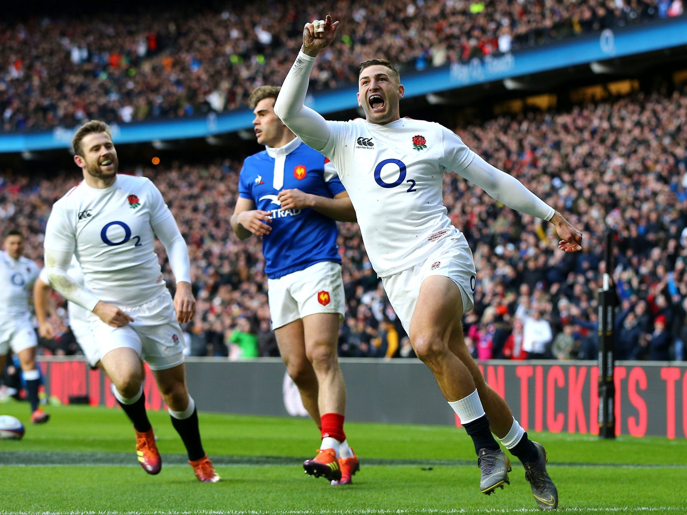 c74a87359f7 Jonny May hat-trick sends England top of the Six Nations in style | The  Independent