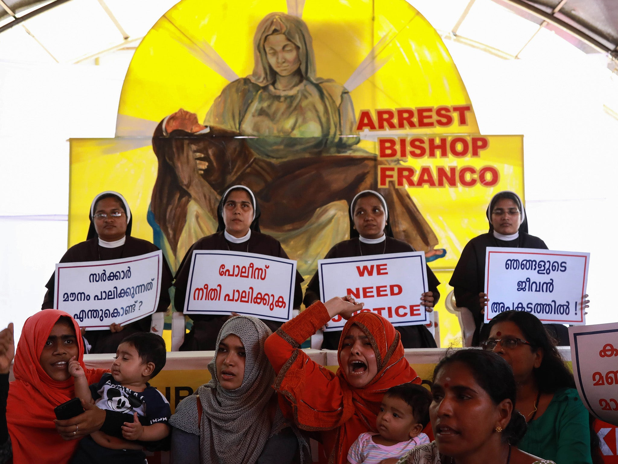 Indian nun who accused bishop of raping her 13 times says church tried to silence her