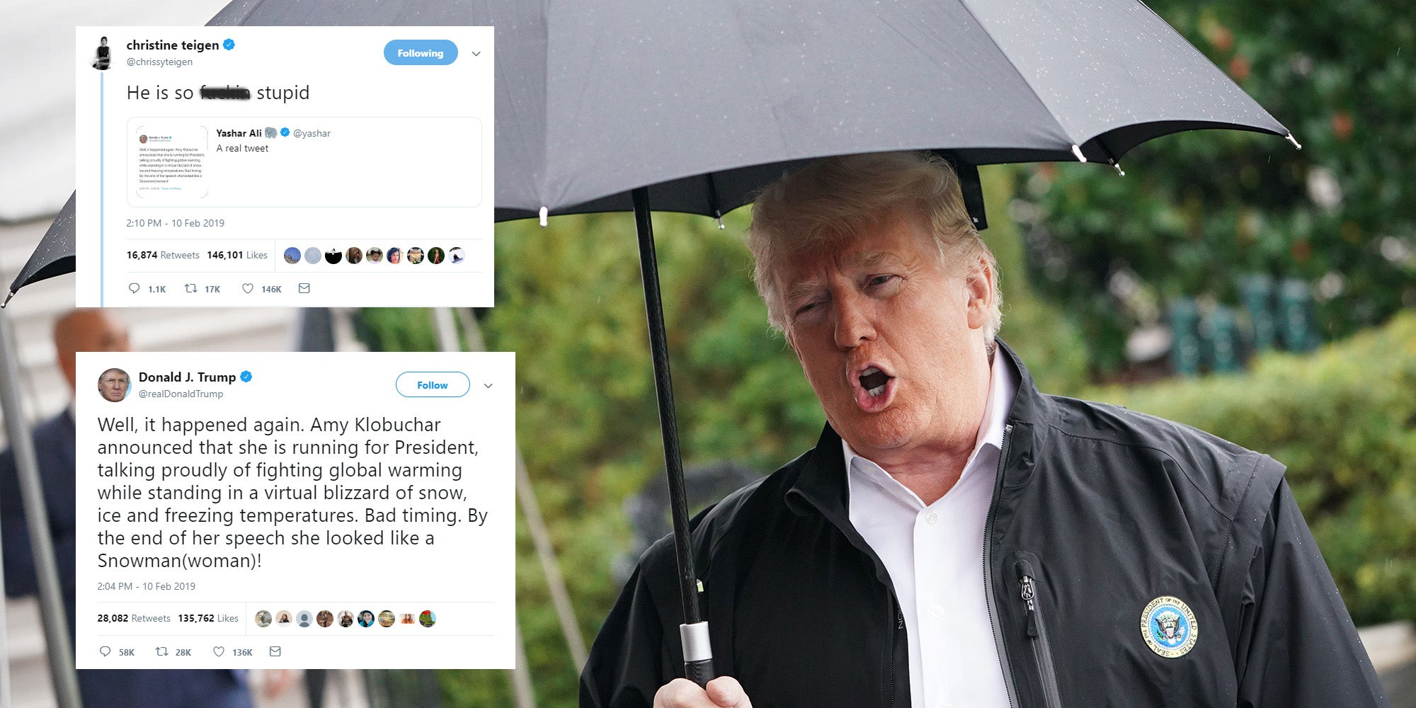 Trump confused global warming with weather again - and it's just getting silly now