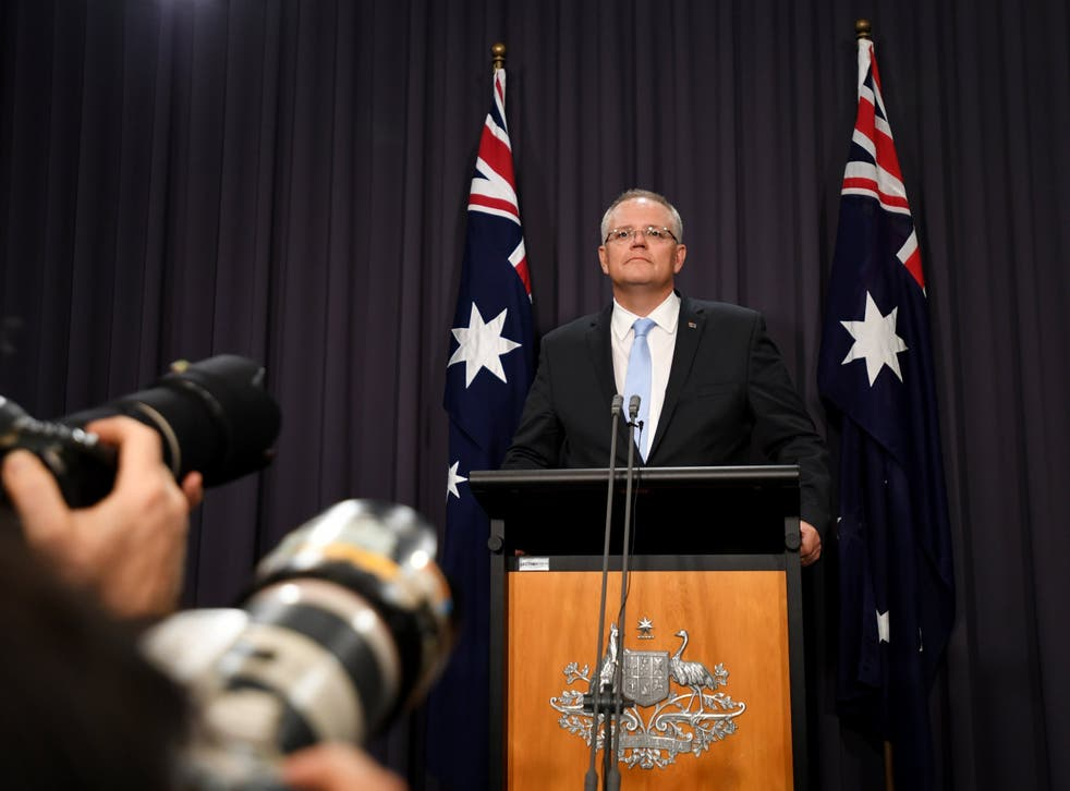 Prime Minister Scott Morrison holds a press conference after the passing of the Medivac Bill in the House of Representatives