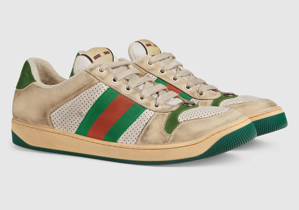 e258104db Gucci selling pair of 'dirty' trainers for £615 and the internet is  confused. '