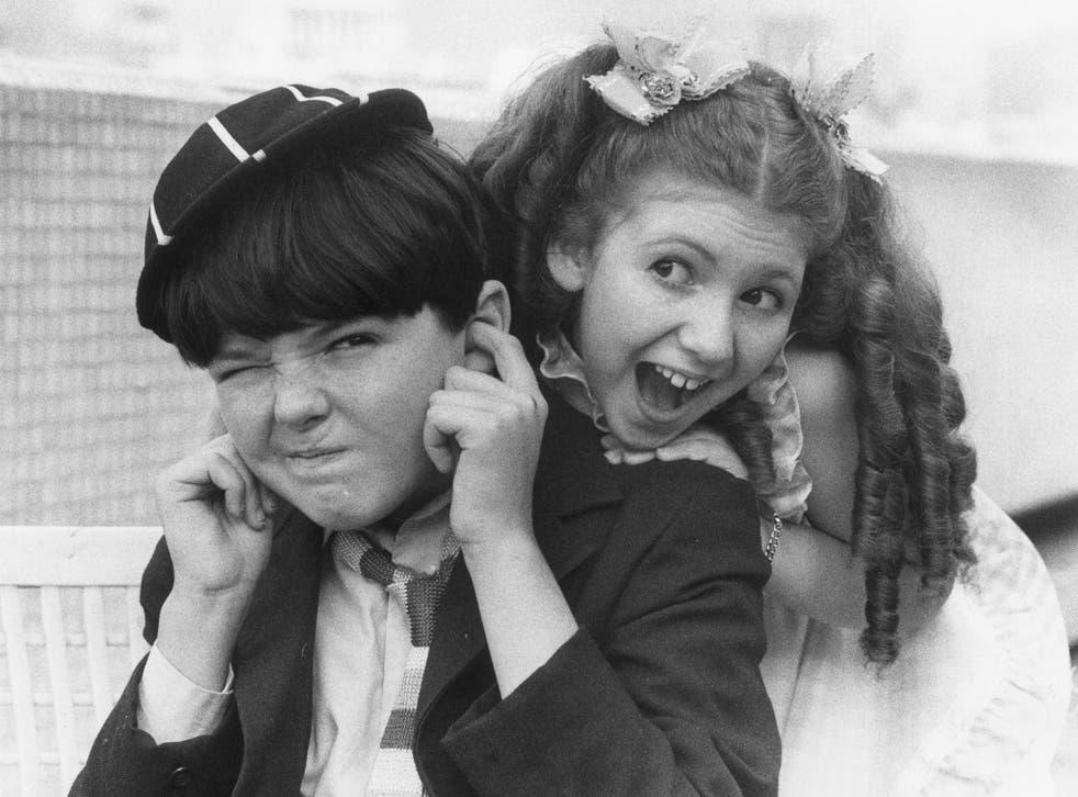Adrian Donnatt as William and Bonnie Langford as Violet Elizabeth Bott in the 1977 TV adaptation