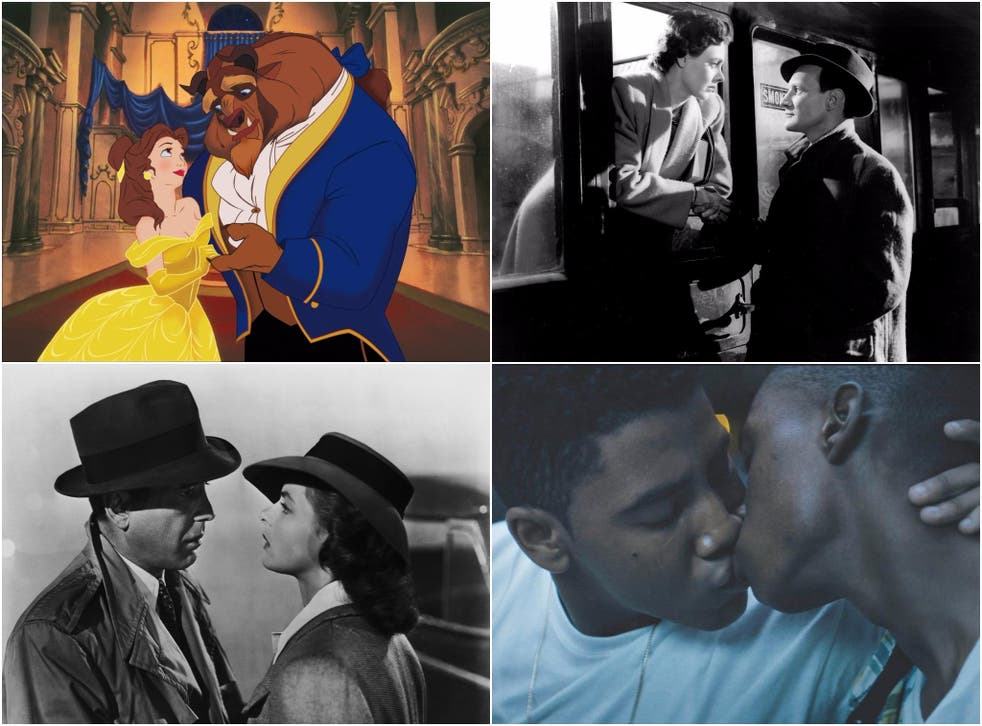 Clockwise from top right: Beauty and the Beast, Brief Encounter, Moonlight and Casablanca