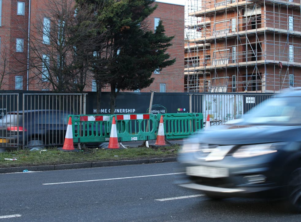 Scene on the A40 near the junction of Kingsdown Avenue where crash took place