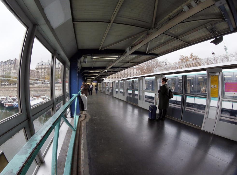Police said a man was seriously injured during a suspected acid attack at the Bastille metro station in Paris