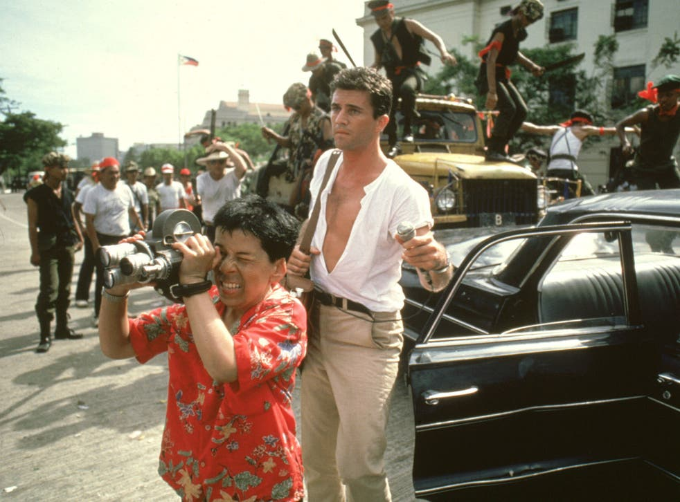 Linda Hunt and Mel Gibson in 'The Year of Living Dangerously'