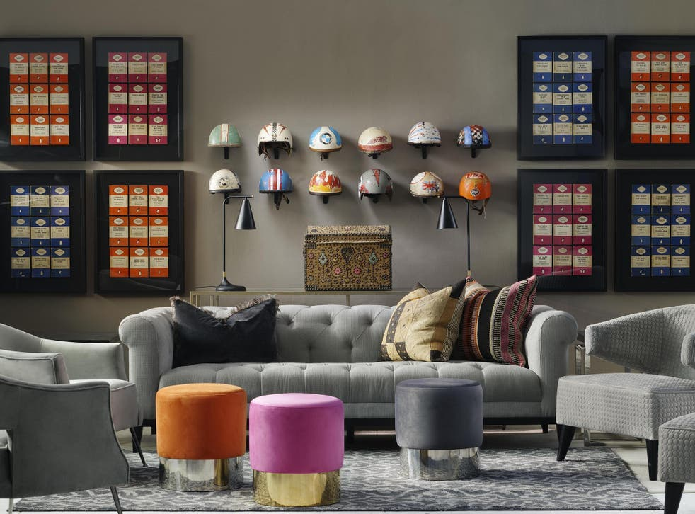 Play pick'n'mix with your decor, adding different textures and patterns