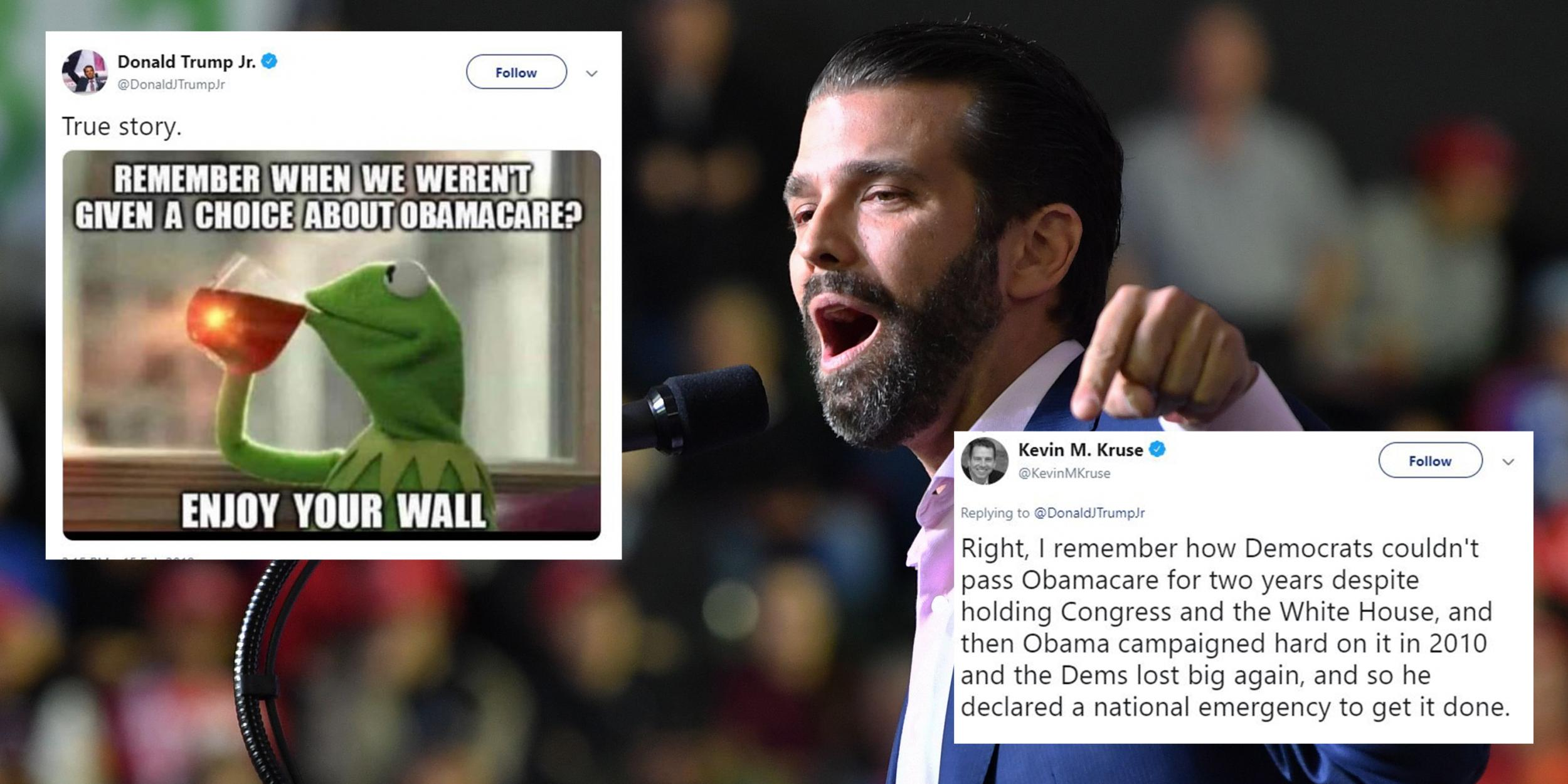 Donald Trump Jr owned himself again after sharing an ...
