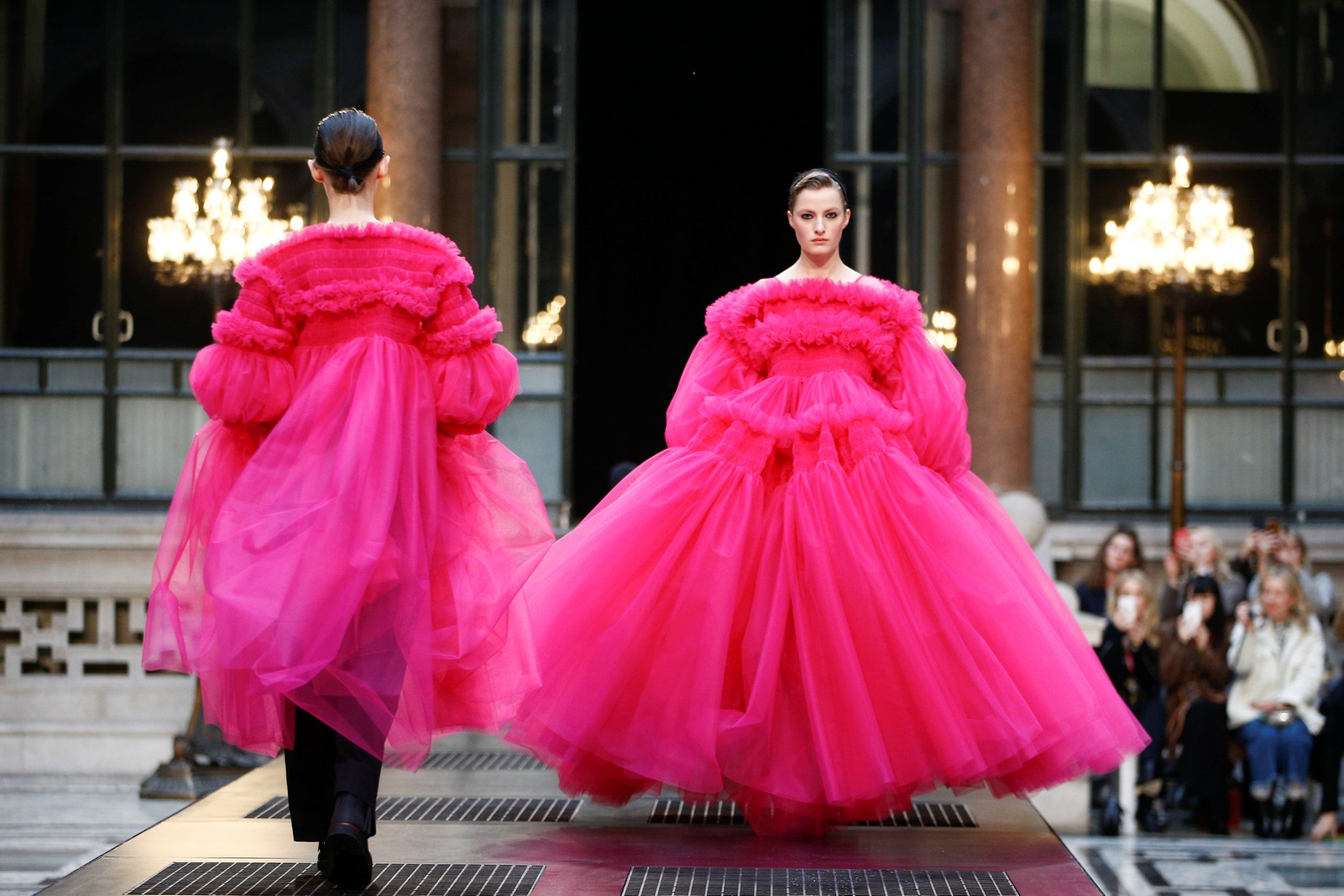 Molly Goddard at LFW AW19: Killing Eve's Villanelle eat your heart out