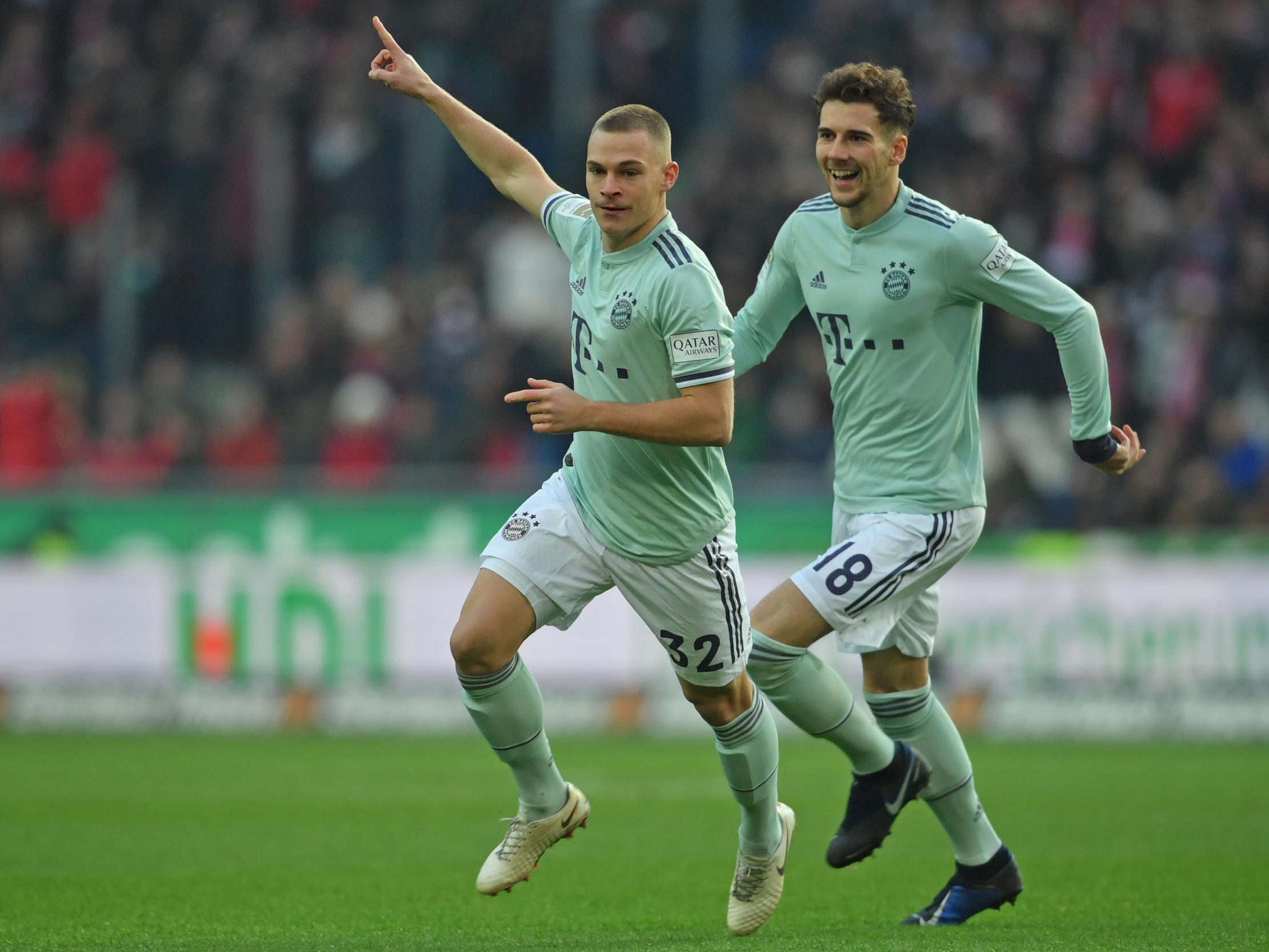c073eea1c8 Joshua Kimmich celebrates scoring for Bayern vs Hannover (Bongarts Getty)