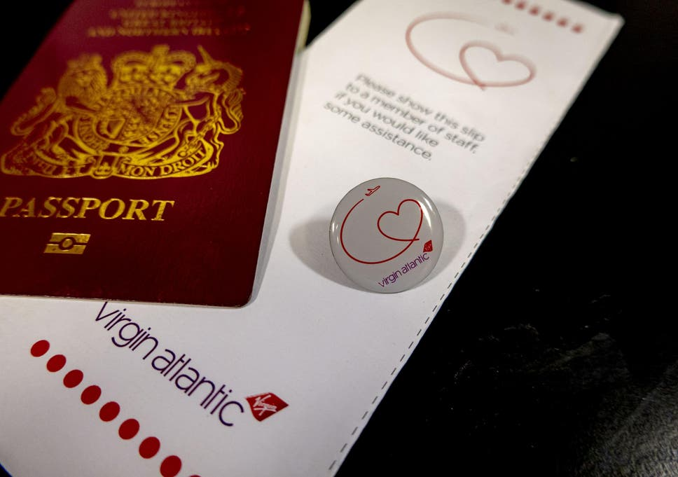 The pin badge and document that indicate to Virgin Atlantic staff that a passenger has a hidden disability