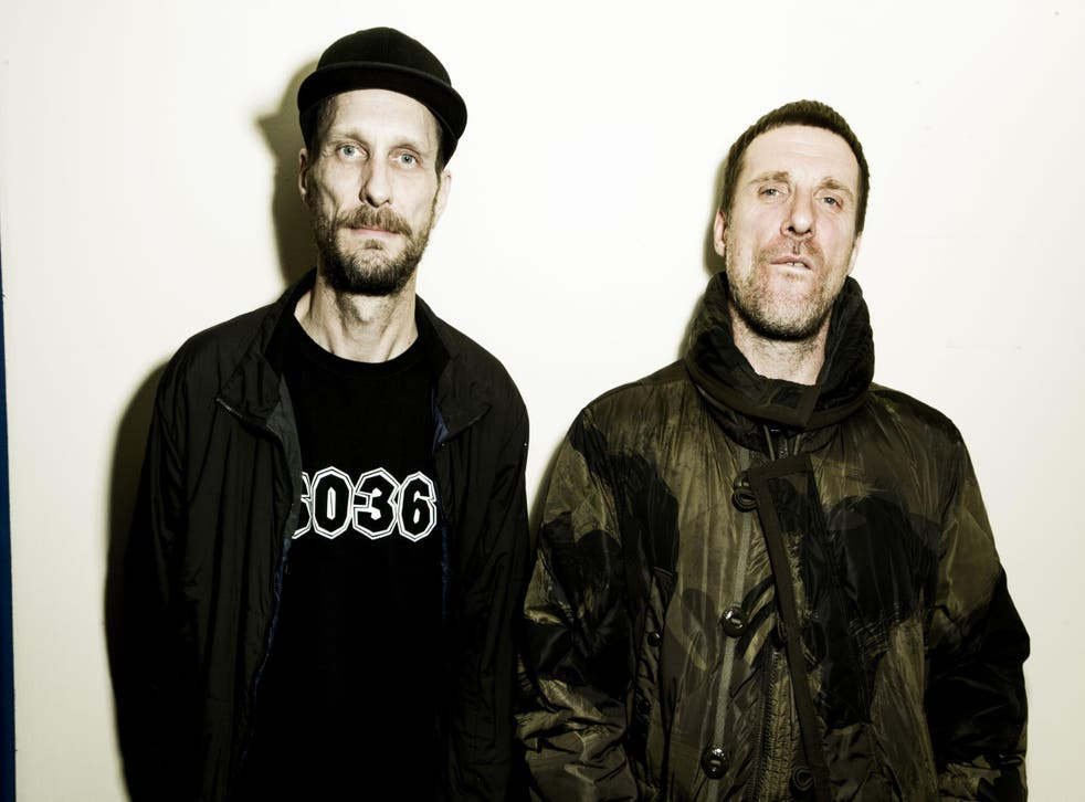 Sleaford Mods: Andrew Fearn (left) and Jason Williamson