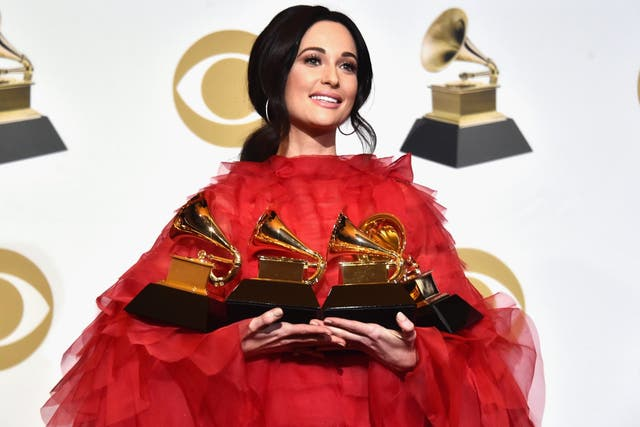 Grammy Winner Kacey Musgraves poses in the press room during the 61st Annual Grammy Awards at Staples Center on 10 February, 2019 in Los Angeles, California.