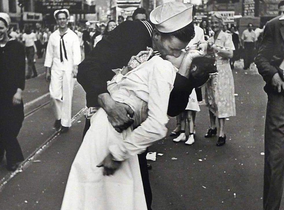 The sailor was pictured in the iconic kissing photo (AFP/Getty)