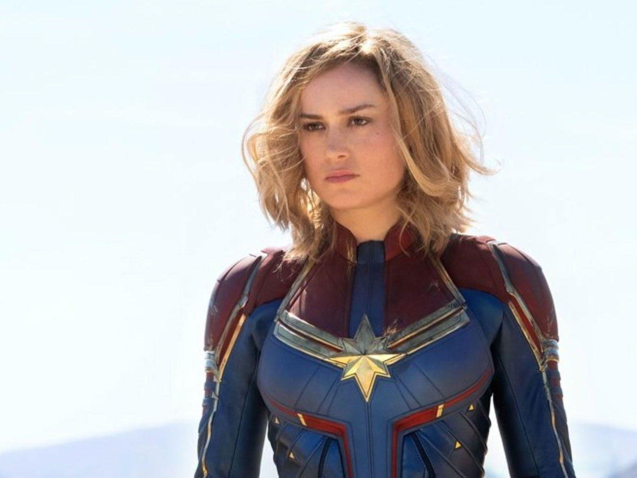 Captain Marvel Review Brie Larson Makes An Engaging And Witty Superhero In New Mcu Film The Independent The Independent Captain uk spandex & metallic superhero costume. captain marvel review brie larson